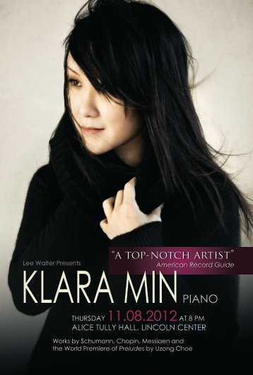 View Flyer - Klara Min, Pianist