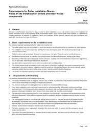 Requirements for Boiler Installation Rooms Notes on the installation ...