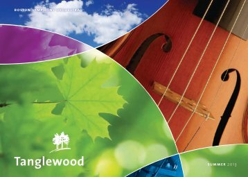 2013 Tanglewood Brochure (PDF) - Boston Symphony Orchestra