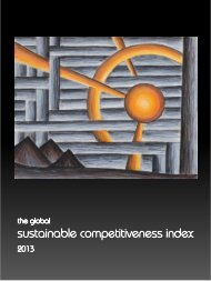 The sustainable competitiveness index 2013