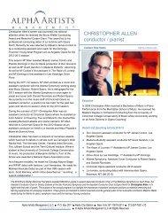 CHRISTOPHER ALLEN conductor / pianist - Alpha Artists ...