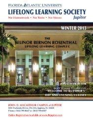 FAU Jupiter Winter 2013 catalog - working.indd - Florida Atlantic ...