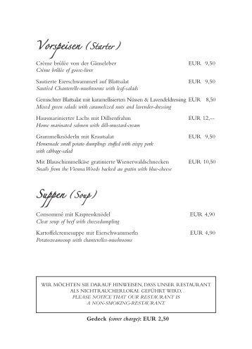 Speisekarte 101005 - Restaurant Der Kuckuck