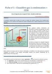 Fiche n°1 : Chaudière gaz à condensation + CESI - Cegibat