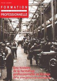 Une histoire de la formation professionnelle en ... - Cedefop - Europa