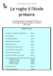 Le rugby à l'école primaire - Académie de Nantes