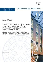 Laparoscopic adjustable gastric banding for morbid obesity - Oulu