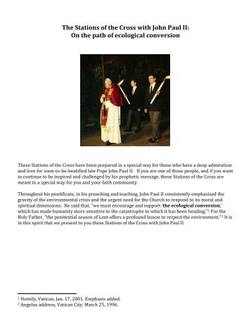 The Stations of the Cross with John Paul II - Franciscan Action Network