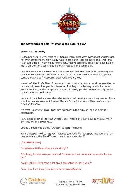 SMART Adventure Script PDF Format