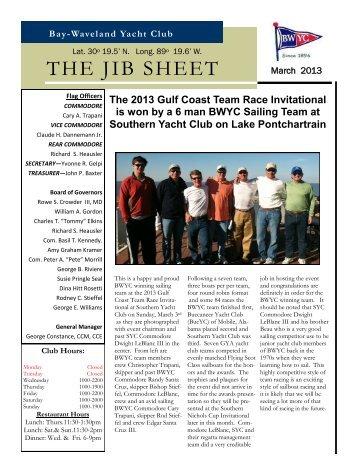 THE JIB SHEET - Bay-Waveland Yacht Club