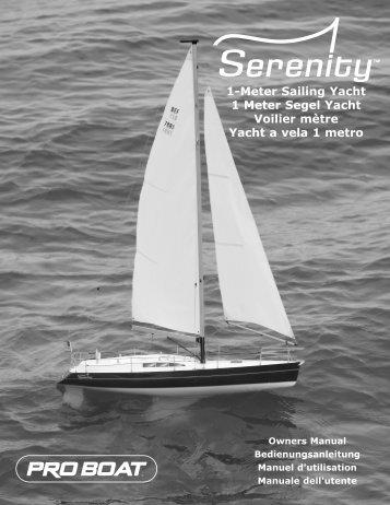 Serenity 1-Meter Sailboat RTR Manual - Pro Boat