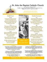 St. John the Baptist Catholic Church - Download Parish Bulletin