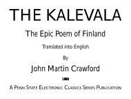 The Epic Poem of Finland John Martin Crawford - Penn State Hazleton