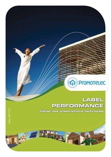 cahier des prescriptions techniques du - Promotelec