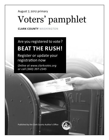 Voters' Pamphlet Primary & Special - Clark County