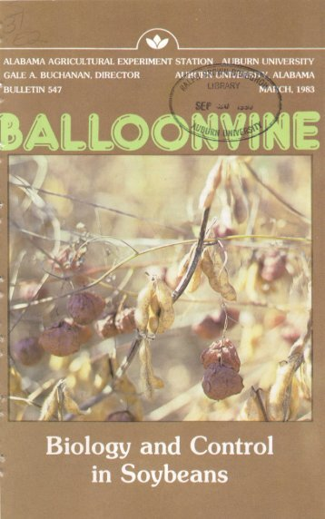 Balloonvine Biology and Control in Soybeans - Auburn University ...