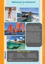 Welcome to balmoral - Balmoral Sailing School
