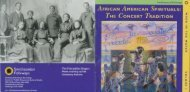 AFRICAN AMERICAN SPIRITUALS THE CONCERT TRADITION