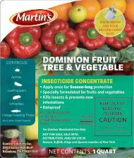 Dominion® Fruit Tree & Vegetable - Control Solutions, Inc.