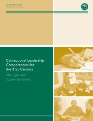Correctional Leadership Competencies for the 21st Century ...