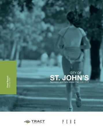 Recreation and Parks Master Plan - City Of St. John's