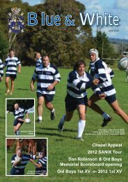 Blue & White June 2012 - St Stanislaus College Old Boys Association