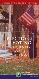 ELECTIONS & VOTING - Washington Secretary of State