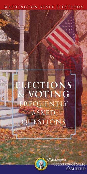 ELECTIONS & VOTING - Washington Secretary of State