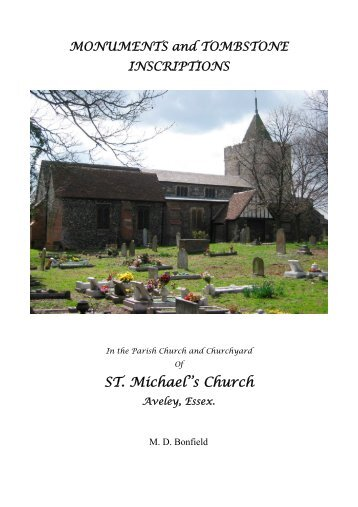 Monuments & Inscriptions of St Michael's Church, Aveley
