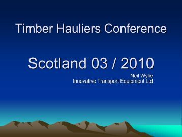 Neil Wylie - Timber Transport Forum