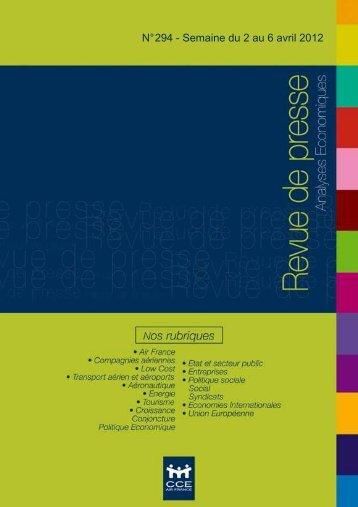 Revue de presse n°294- Semaine du 2 au 6 avril 2012 - UNSA – DGSI