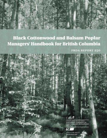 FRDA Report: Black Cottonwood and Balsam Poplar Managers ...