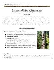 Mushroom Cultivation on Hardwood Logs - Université de Moncton