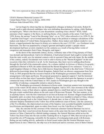 United States Policy Vis~-vis Korea, 1850-1950 John ~dward WiIz ...