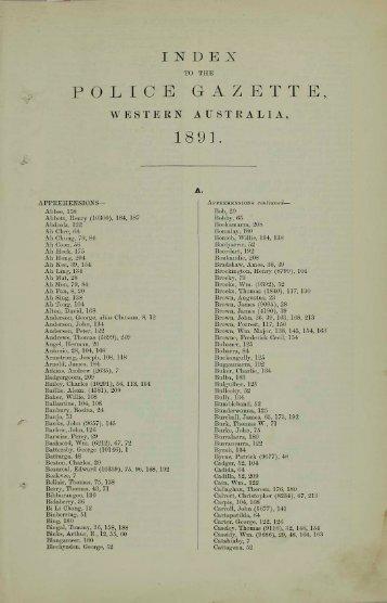 1891 Index