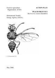 Action Plan Peach Fruit Fly Bactrocera zonata - Nuclear Sciences ...