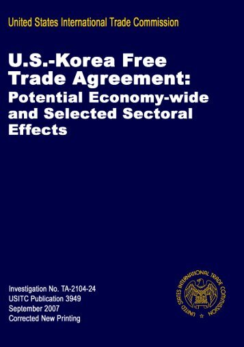 North american free trade agreement certificate of origin forms us korea free trade agreement potential economy wide usitc yadclub Images