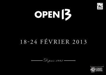 Télécharger la plaquette commerciale 2013 (pdf ... - Open 13 2013