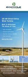 EO-25/12 Wind Turbine Specification Sheet - Eocycle