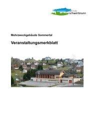 Veranstaltungsmerkblatt Mehrzweckanlage - Gemeinde Schwellbrunn