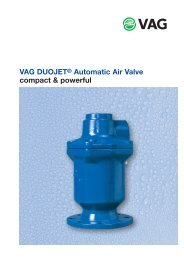 VAG DUOJET® Automatic Air Valve compact & powerful - Bagges AS
