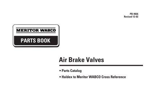 Air Brake Valves - Meritor WABCO