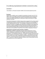 Air conditioning using displacement ventilation to maximize ... - Cibse