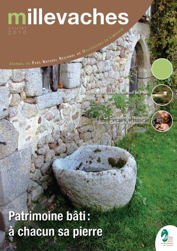 Patrimoine bâti : à chacun sa pierre - Parc Naturel Régional de ...