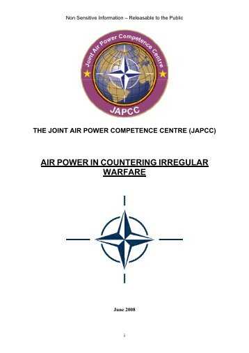 080609 Air Power in Countering Irregular Warfare - japcc