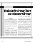 Clearing the Air: Airpower Theory and Contemporary Airpower - Page 2