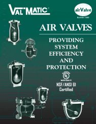 Bulletin 1500 AIR VALVES - Val-Matic Valve and Manufacturing Corp.