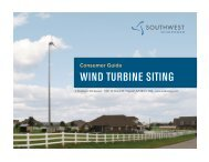 Consumer Guide wind turbine SitinG - Southwest Windpower