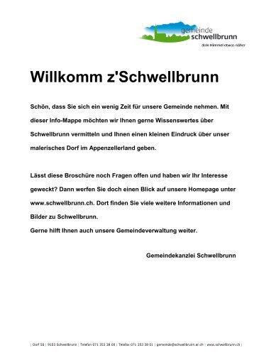 Willkomm z'Schwellbrunn - Gemeinde Schwellbrunn