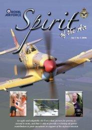 Vol 1 No 3 Part I 2006 (4.8MB) - Royal Air Force